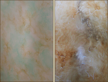 Faux painting is ideal for the large interiors of Arizona homes.