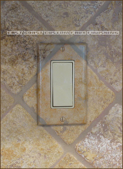 custom faux finished outlet covers by phoenix arizona decorative painters