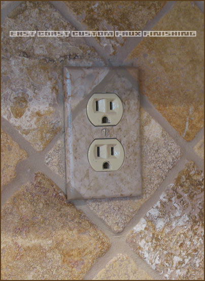 custom faux finished outlet covers by phoenix arizona decorative painters - Decorative Outlet Covers